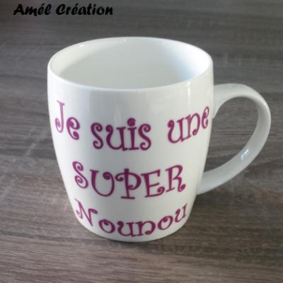 Sticker pour mug Je suis une super nounou