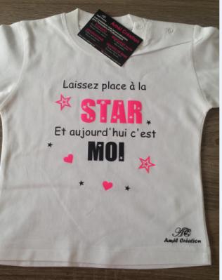 Tee shirt MC - Laissez place à la star et aujourd'hui c'est moi