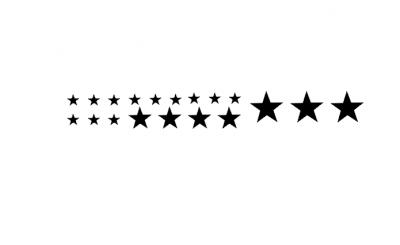 Sticker étoiles petits formats - lot de 19