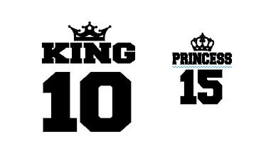 Ensemble TEE SHIRT OU BODY -  Couronne et pour la vie + king (ou queen) prince (ou princess) ou autre