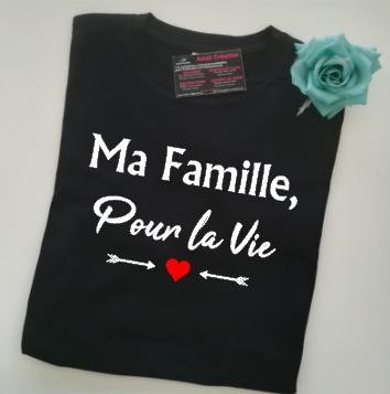 Tee shirt MC homme - Ma famille pour la vie