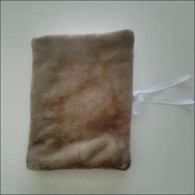 Protège carnet de santé matière doudou marron - à personnaliser