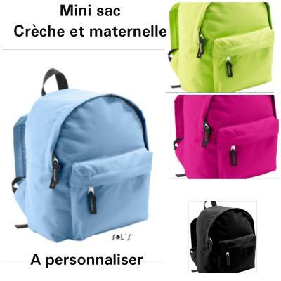 Mini sac à dos - à personnaliser sur la poche devant