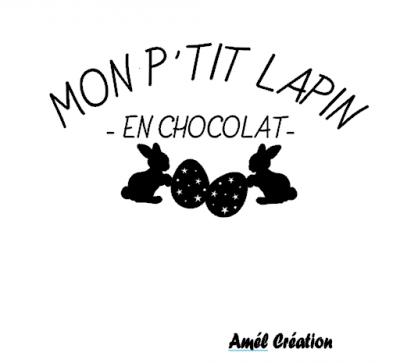 Tee shirt enfant ML - Mon p'tit lapin en chocolat