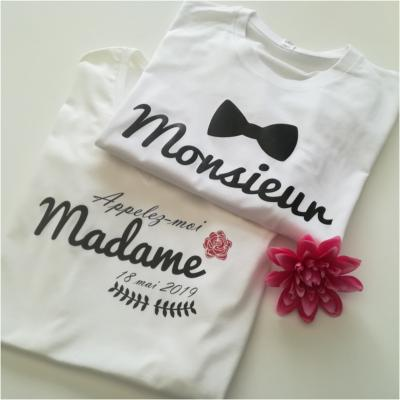 Ensemble TEE SHIRT - Madame Monsieur