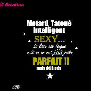 Motard tatoue parfait