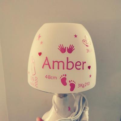 Lampe de chevet - Prénom infos naissance