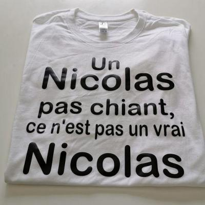 Tee shirt MC - modèle Prénom... chiant