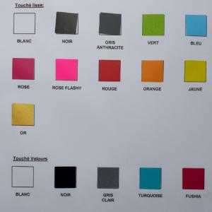 Nuancier textiles