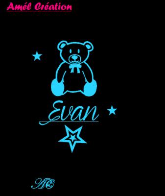 Tee shirt MC - ours et prénom