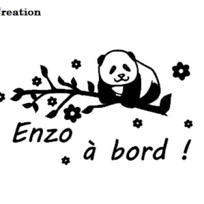 Stickers bébé à bord panda