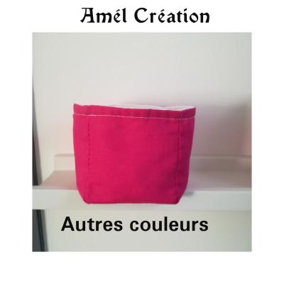 Petit panier coton uni - différentes couleurs - personnalisation possible sur le panier