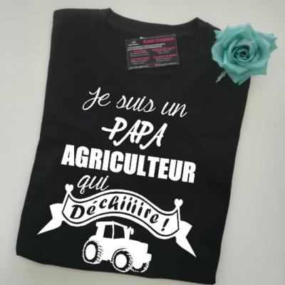 Tee shirt MC homme - Je suis un .... agriculteur qui déchiiiire