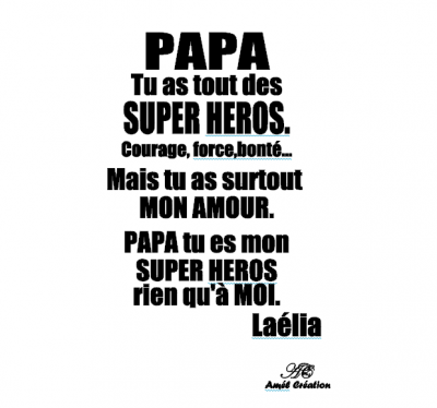 Tee shirt ML -  Papa -Super héros
