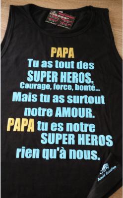 Débardeur homme - PAPA tu as tout des Super héros