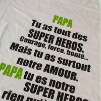 Papa tu as tout des super heros noir vert et noir