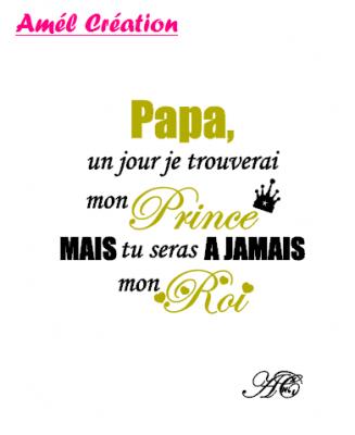 Tee shirt enfant ML - Papa un jour je trouverai mon prince mais tu resteras à jamais mon roi