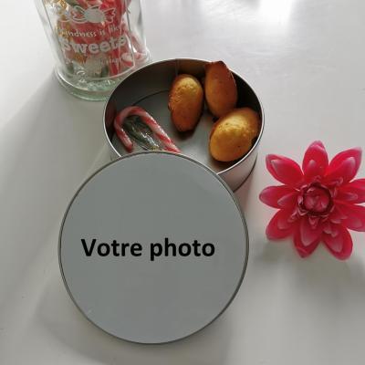 la boîte en métal ronde - photo