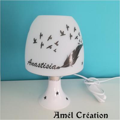 Lampe de chevet - modèle plume oiseau