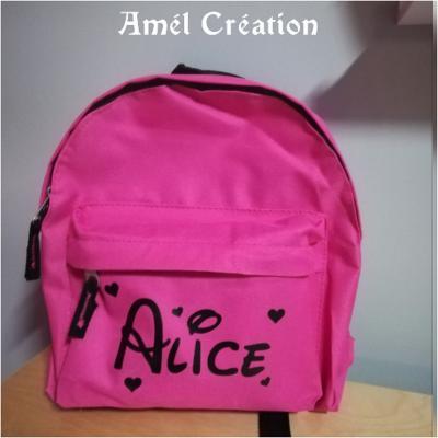 Mini sac à dos - modèle prénom et coeur