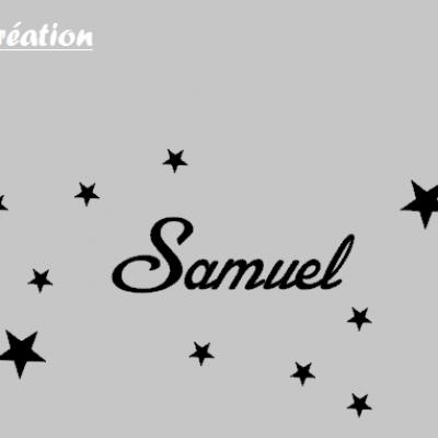 Stickers prénom et étoiles
