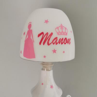 Lampe de chevet - modèle Princesse couronne