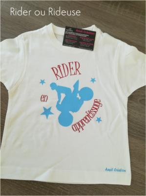 Tee shirt enfant MC - Rider(euse) en apprentissage