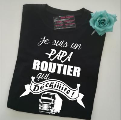 Tee shirt MC homme - Je suis un .... routier qui déchiiiire
