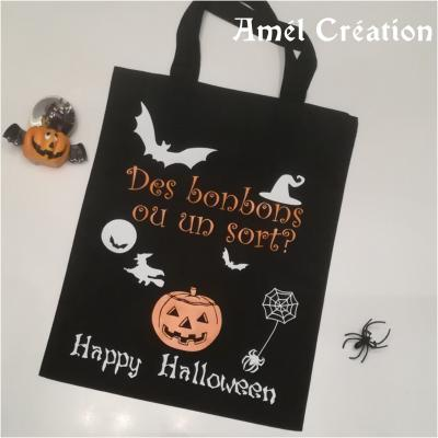Mini Sac 100% coton  - Halloween