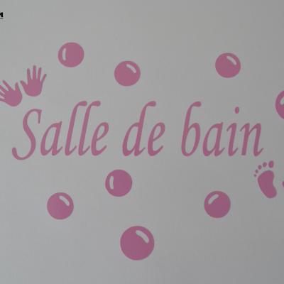 Stickers salle de bain -mains et pieds
