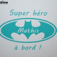 Stcikers batman super heros a bord