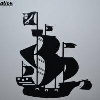 Sticker bateau de pirate