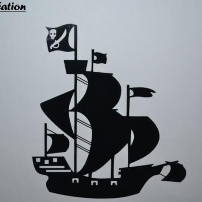 Stickers bateau de pirate