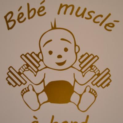 Stickers bébé à bord - BEBE MUSCLE