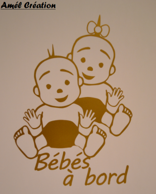 Stickers bébé à bord - BEBE