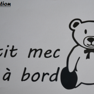Sticker bebe a bord ours