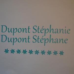 Sticker boites aux lettres nom avec fleurs 1