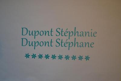 Stickers noms boites aux lettres -modèle fleurs simple
