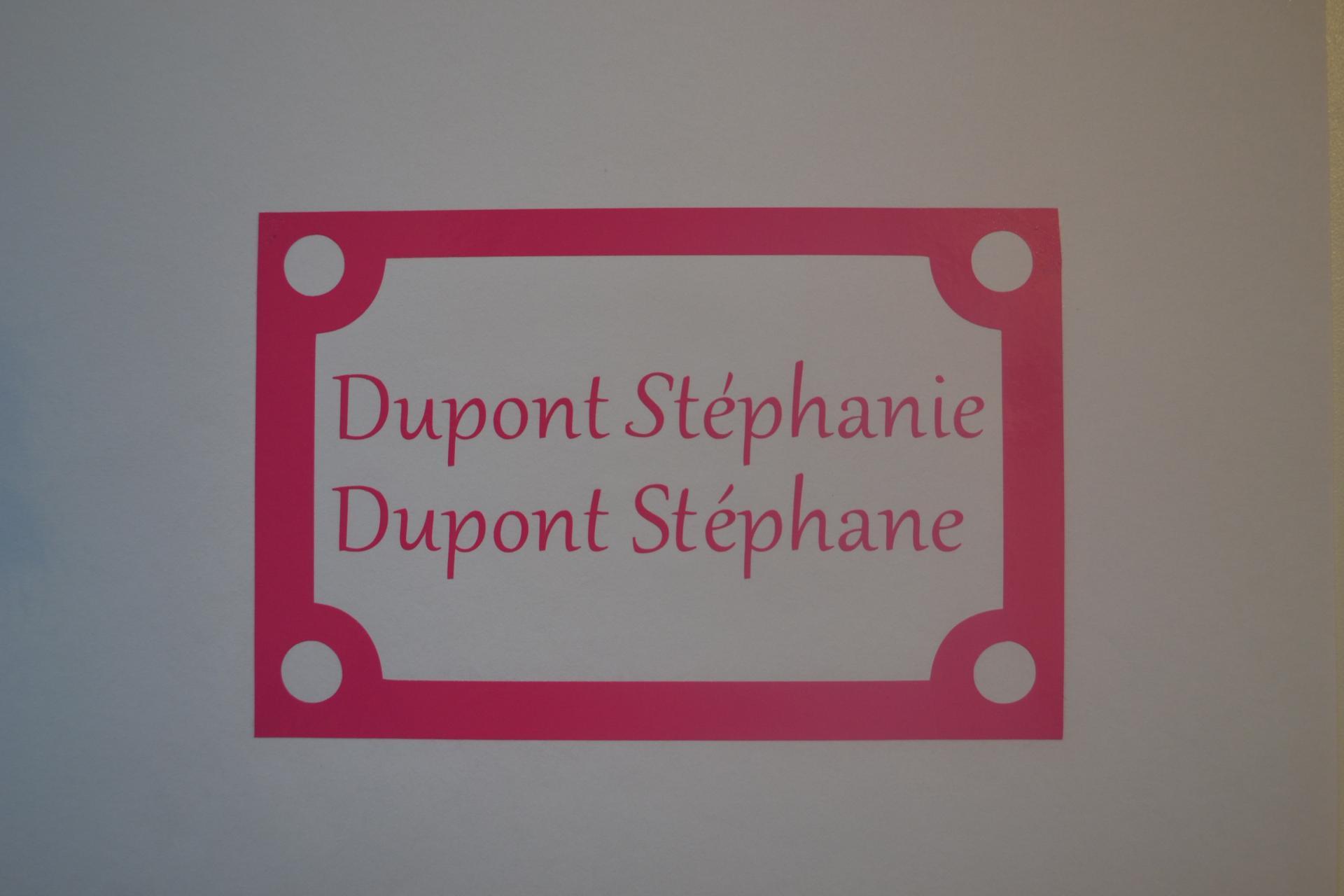 Sticker boites aux lettres nom carre 1