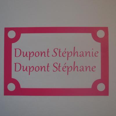Stickers noms boites aux lettres -modèle carré