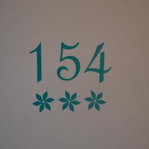 Sticker boites aux lettres numero avec fleurs 2