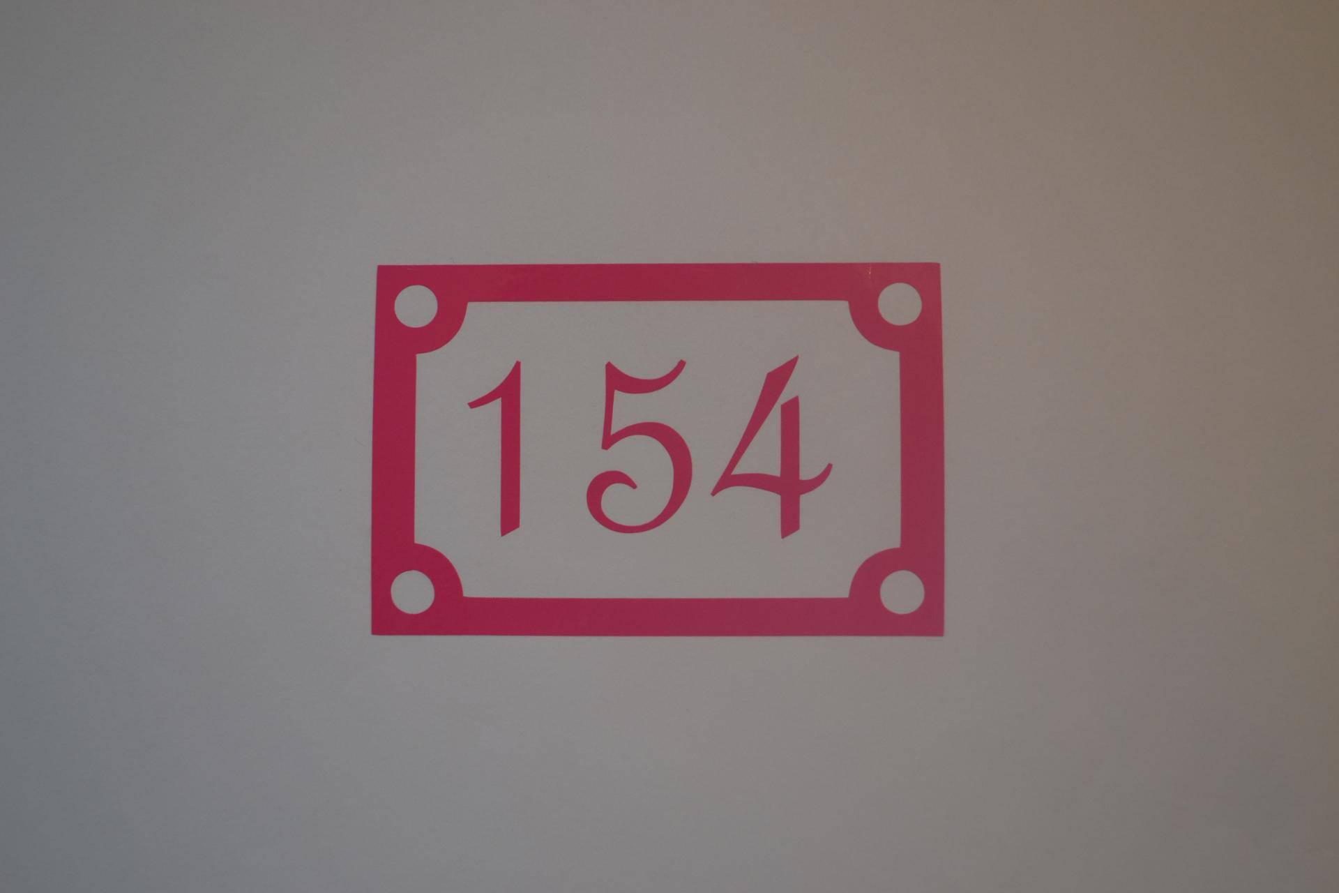Sticker boites aux lettres numero carre 2