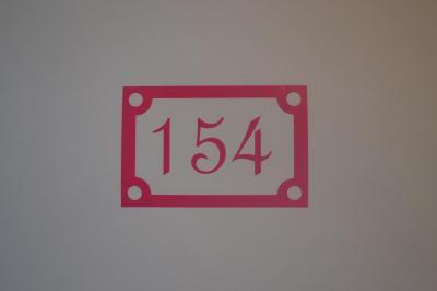 Stickers chiffres boites aux lettres -modèle carré