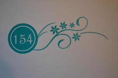 Stickers chiffres boites aux lettres -modèle rond et fleurs