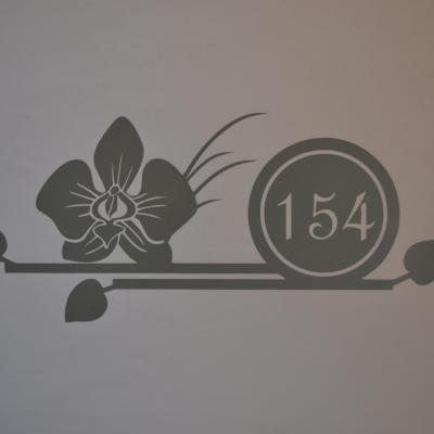 Stickers chiffres boites aux lettres -modèle orchidée