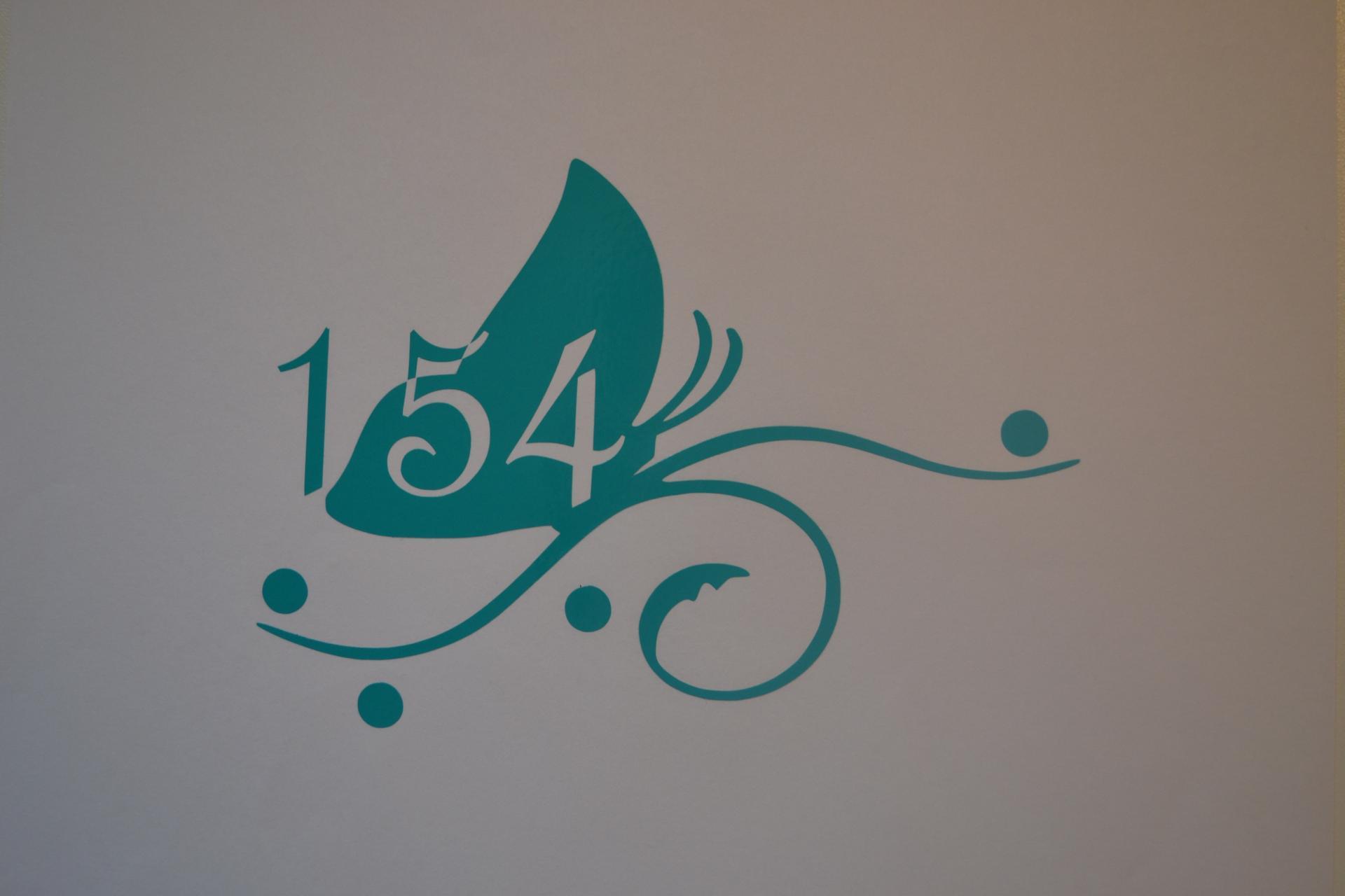 Sticker boites aux lettres numero papillon 1