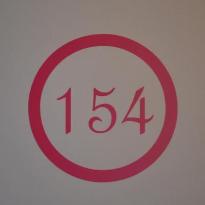 Stickers chiffres boites aux lettres -modèle rond