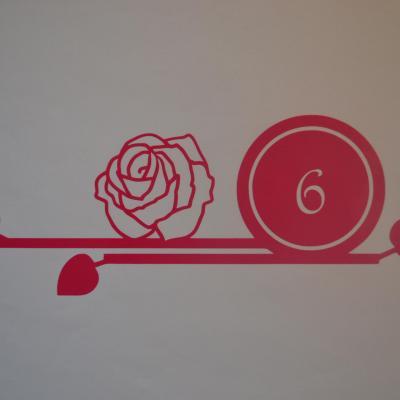 Stickers chiffres boites aux lettres -modèle rose