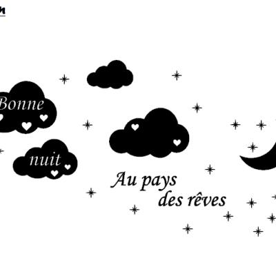 Stickers bonne nuit au pays des rêves