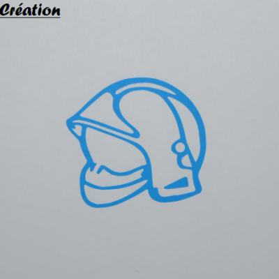 Stickers casque de pompier